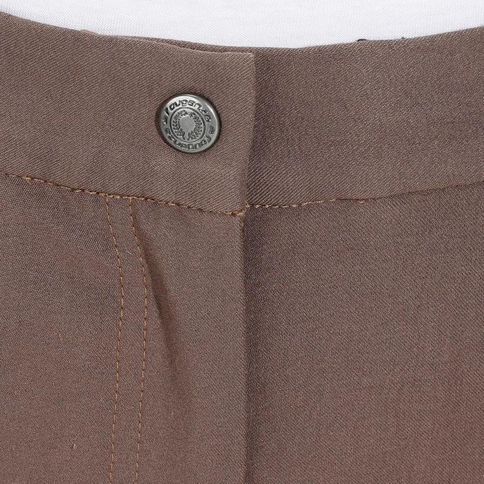 Pantalon équitation femme BR500 basanes marine - 1081967