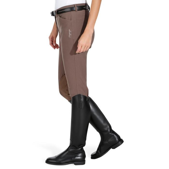 Pantalon équitation femme BR500 basanes marine - 1081969