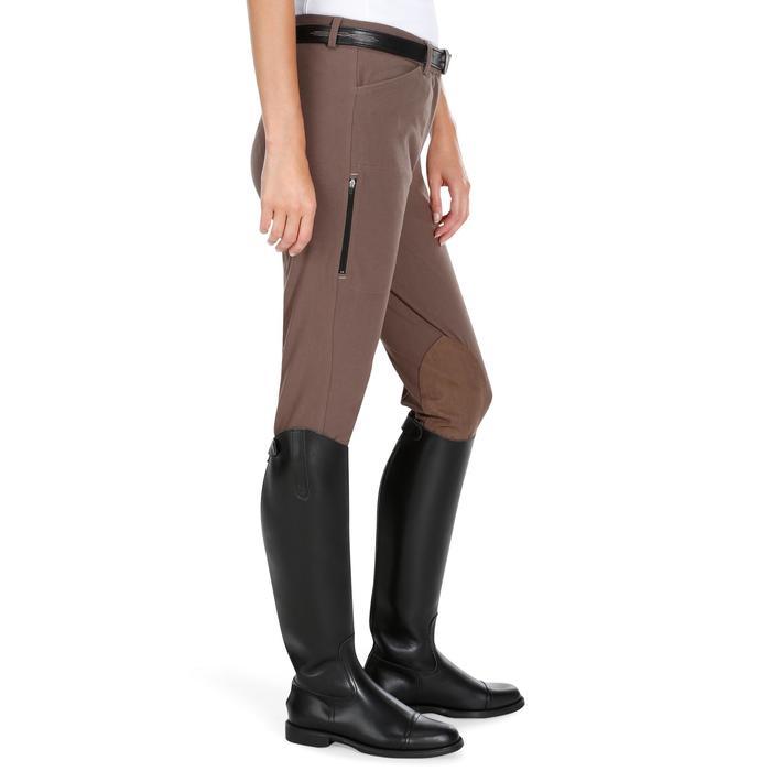 Pantalon équitation femme BR500 basanes marine - 1081972
