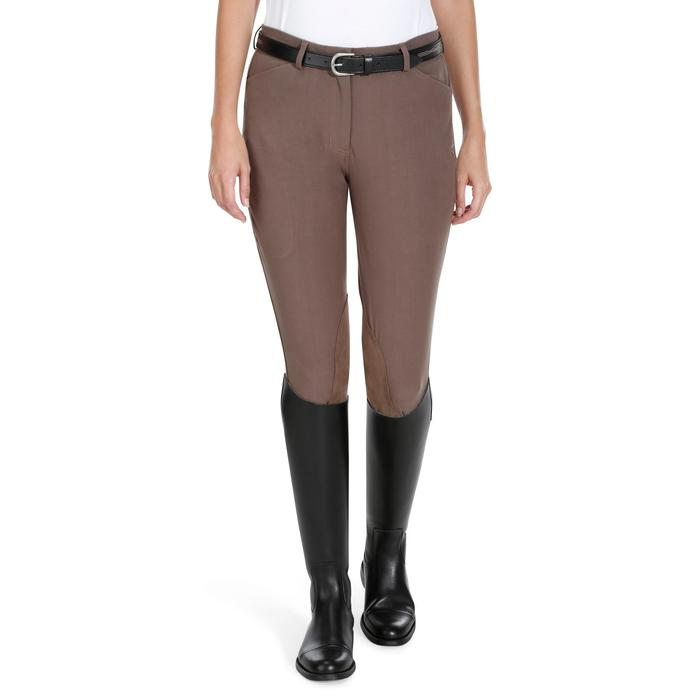 Pantalon équitation femme BR500 basanes marine - 1081974