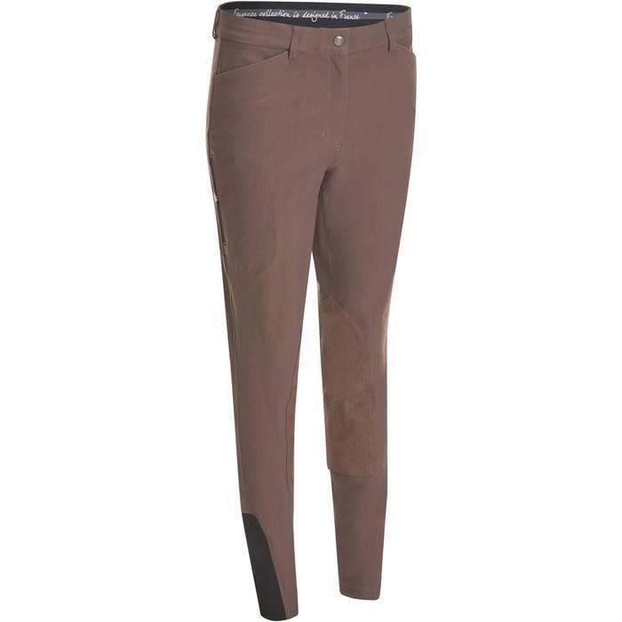 Pantalon équitation femme BR500 basanes marine - 1081978