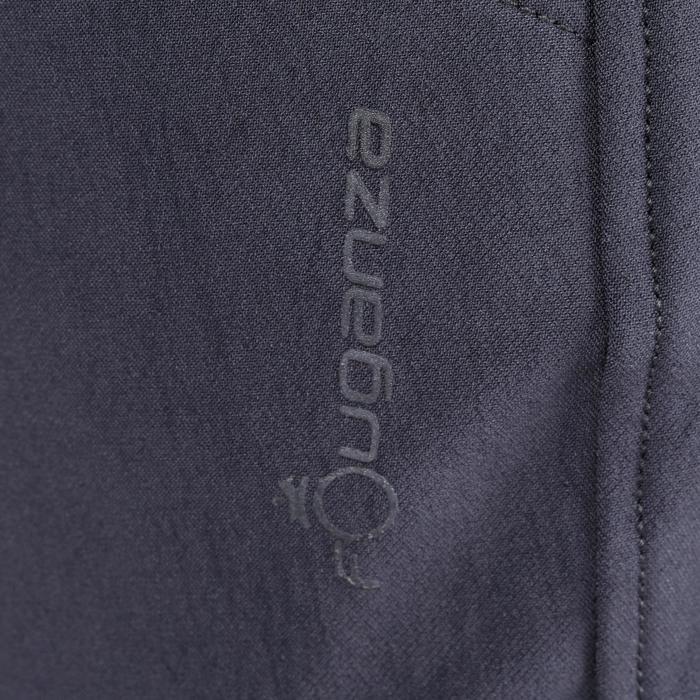 Reithose BR500 Kniebesatz Herren grau