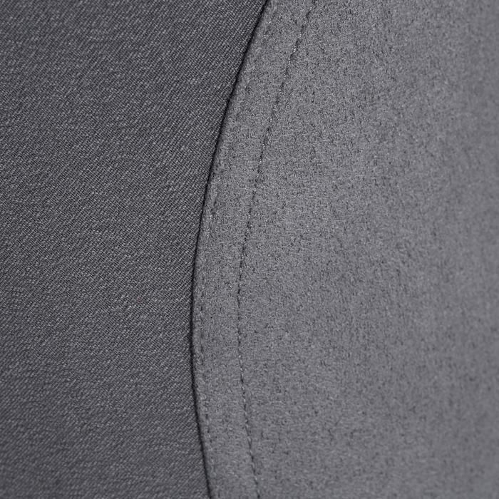 Damesrijbroek BR500 grijs met inzetstukken