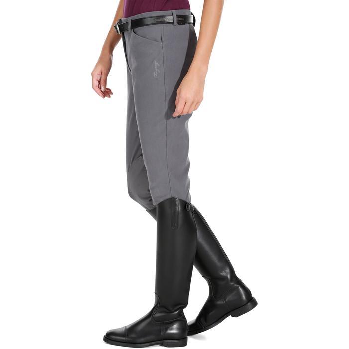 Pantalon équitation femme BR500 basanes marine - 1082067