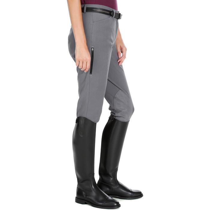 Pantalon équitation femme BR500 basanes marine - 1082070