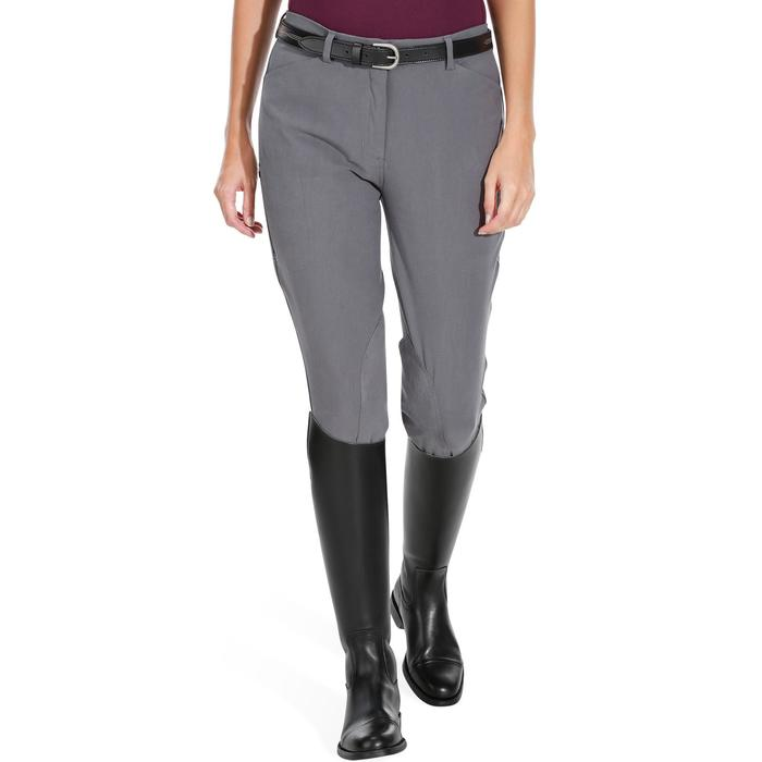 Pantalon équitation femme BR500 basanes marine - 1082072