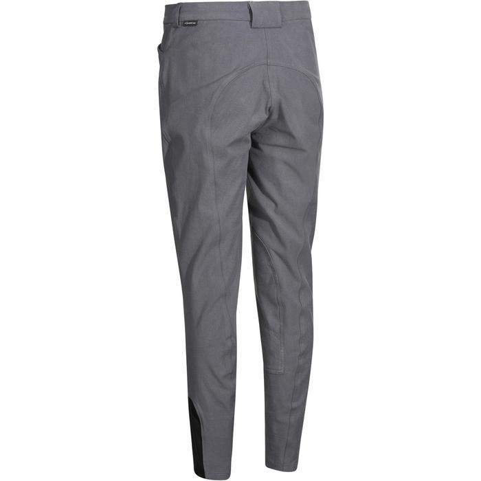 Pantalon équitation femme BR500 basanes gris