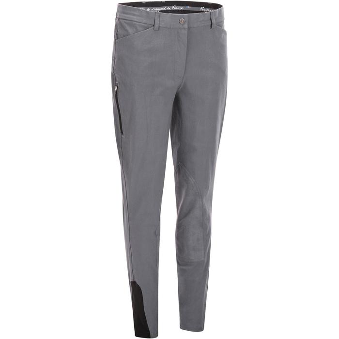 Pantalon équitation femme BR500 basanes marine - 1082076