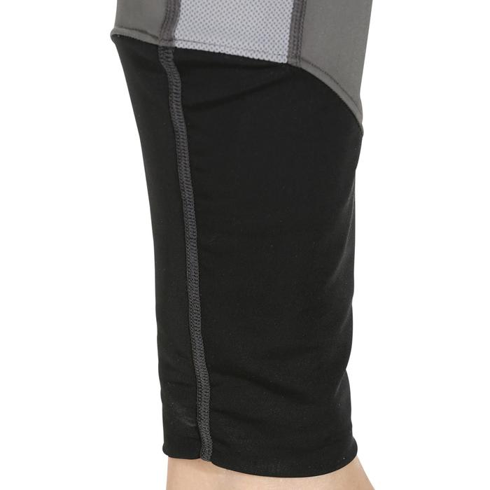 Reitleggins 100 Light Kniebesatz Damen grau