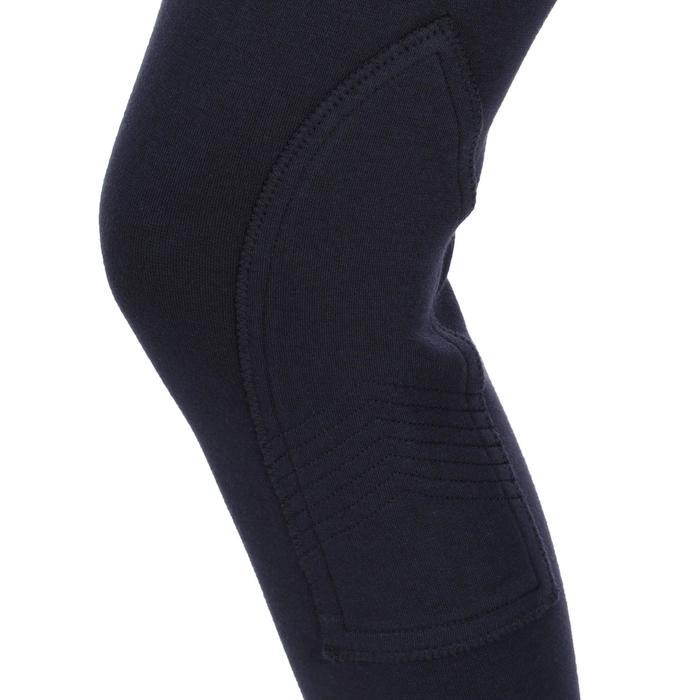 Pantalon équitation enfant BR120 marine et turquoise