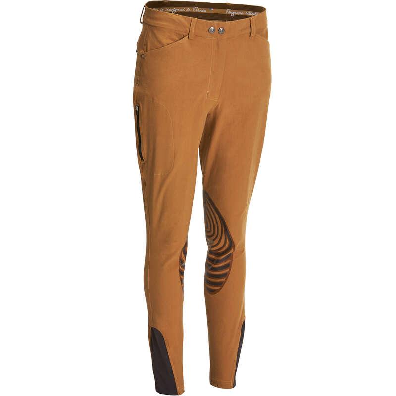 WOMAN RIDINGWEAR - BR560 Grip Jodhpurs - Camel FOUGANZA
