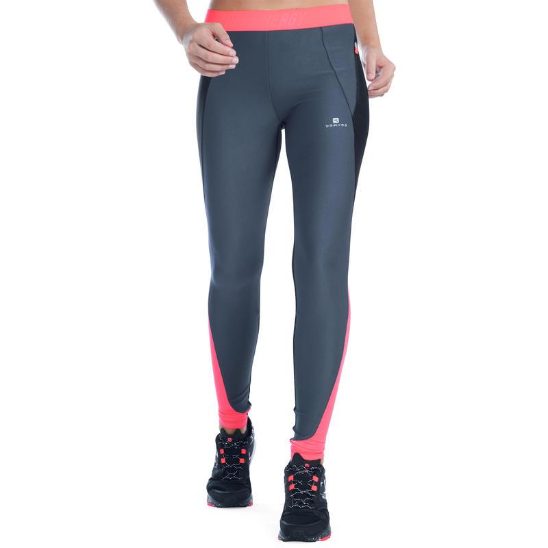 Energy+ Women's Breathable Cardio Fitness Leggings - Black / Grey