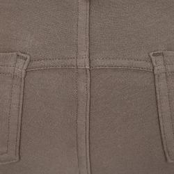 Pantalón equitación júnior 140 badanas marrón