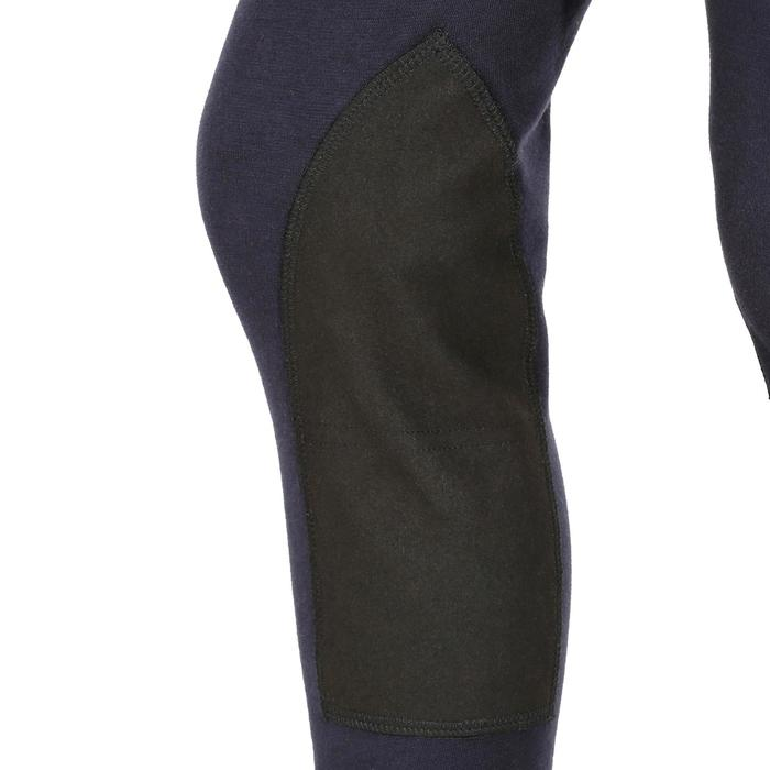 Pantalón equitación niños BR140 badanas azul marino