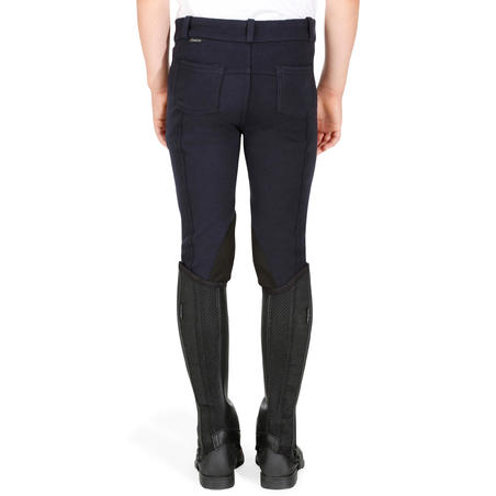 140 Kids' Horseback Riding Patch Jodhpurs - Navy
