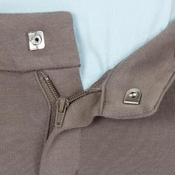 Pantalón equitación niños BR140 badanas café