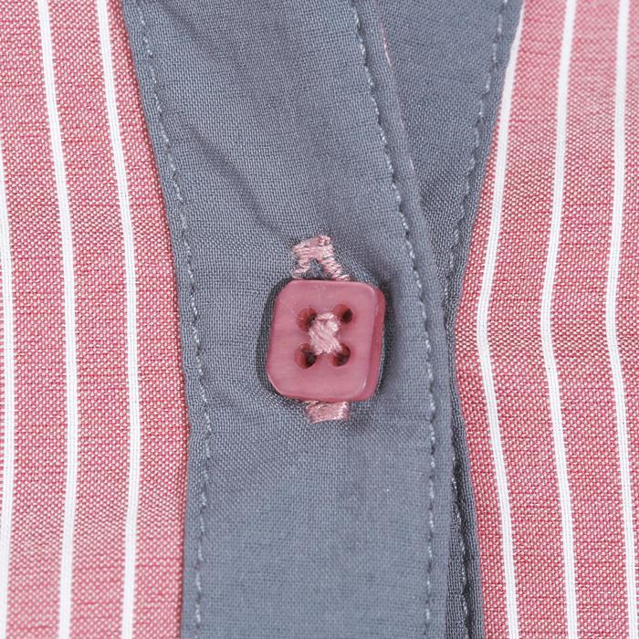 Chemise équitation femme PERFORMER rose rayé gris - 1083039