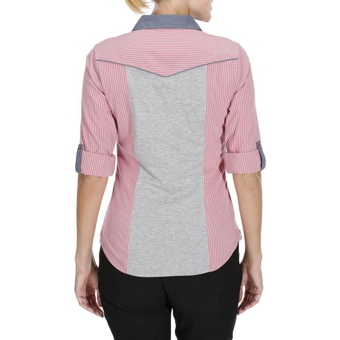 Chemise équitation femme PERFORMER rose rayé gris - 1083040