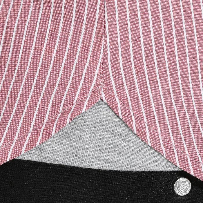 Chemise équitation femme PERFORMER rose rayé gris - 1083050
