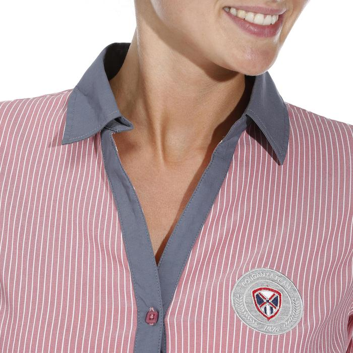 Chemise équitation femme PERFORMER rose rayé gris - 1083069
