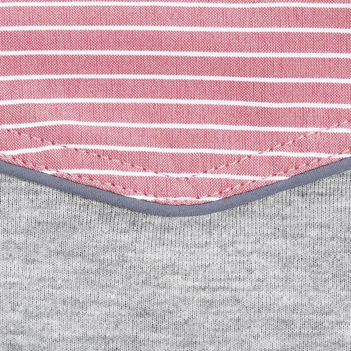 Chemise équitation femme PERFORMER rose rayé gris - 1083113
