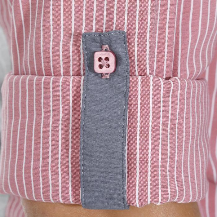 Chemise équitation femme PERFORMER rose rayé gris - 1083116