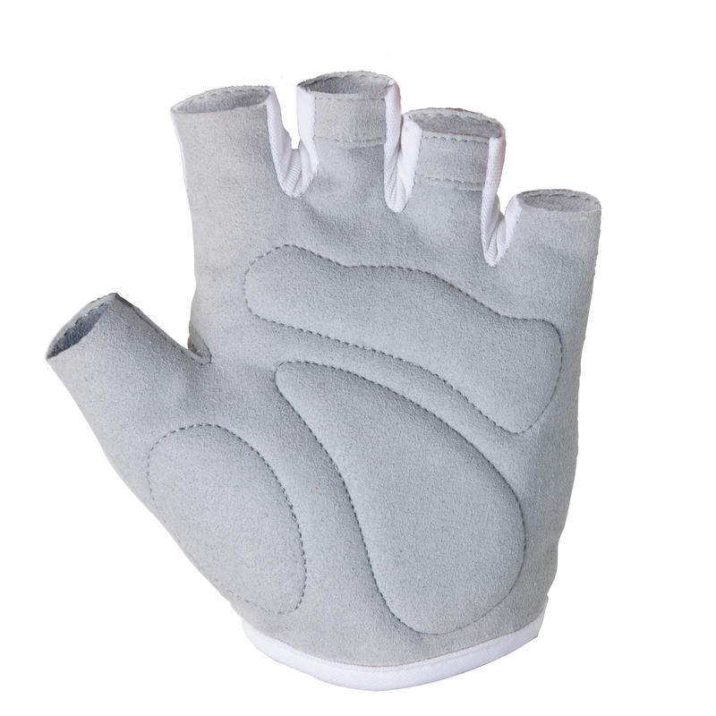 Guantes ciclismo mujer ROADC 100 BLANCO