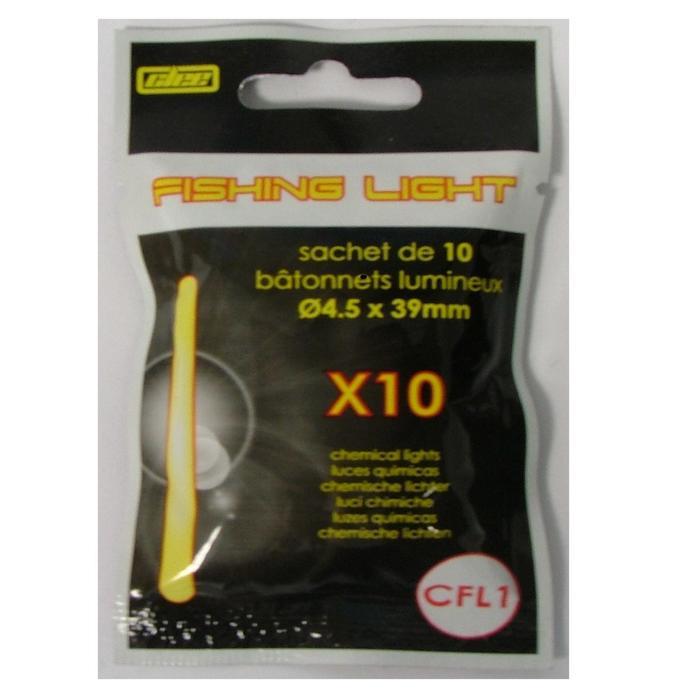 10 bâtons lumineux T1 4.5x39mm pêche en mer