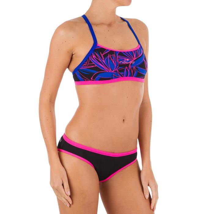 Braguita de bikini de natación mujer resistente al cloro Jade Negro Rosa