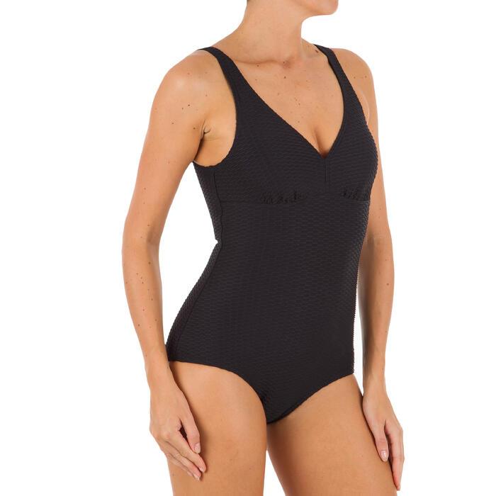 Bañador de natación moldeador una pieza para mujer Kaipearl Negro
