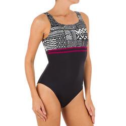 Bañador de natación una pieza mujer Loran nibi negro
