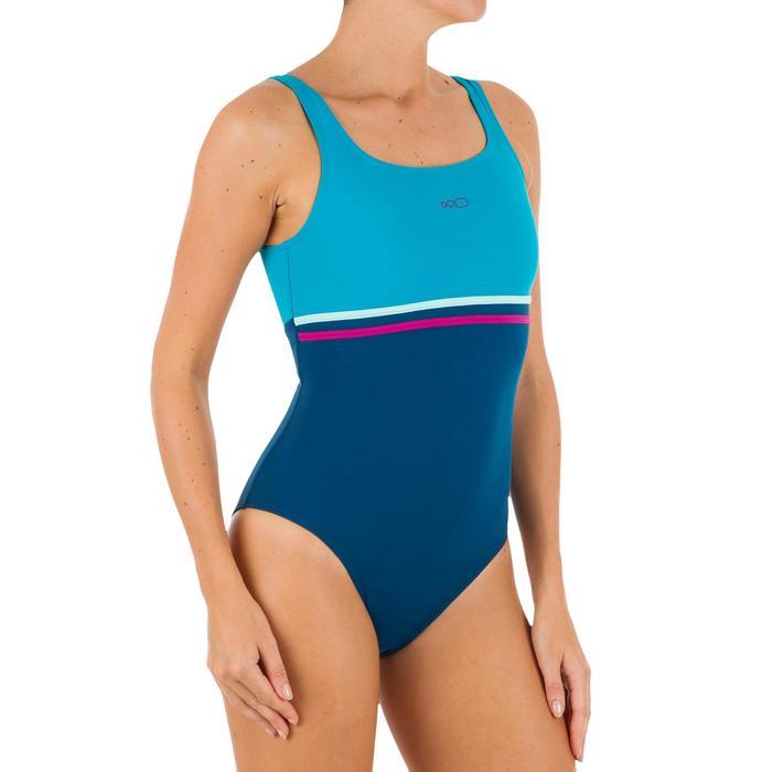 Maillot de bain de natation une pièce femme Loran corail - 1084396