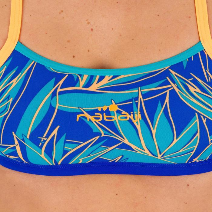 Top de natación ultra resistente al cloro Jade bird azul