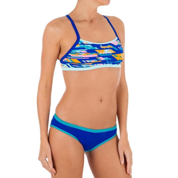 Sujetador-top de natación para mujer ultra resistente al cloro Jade digi azul