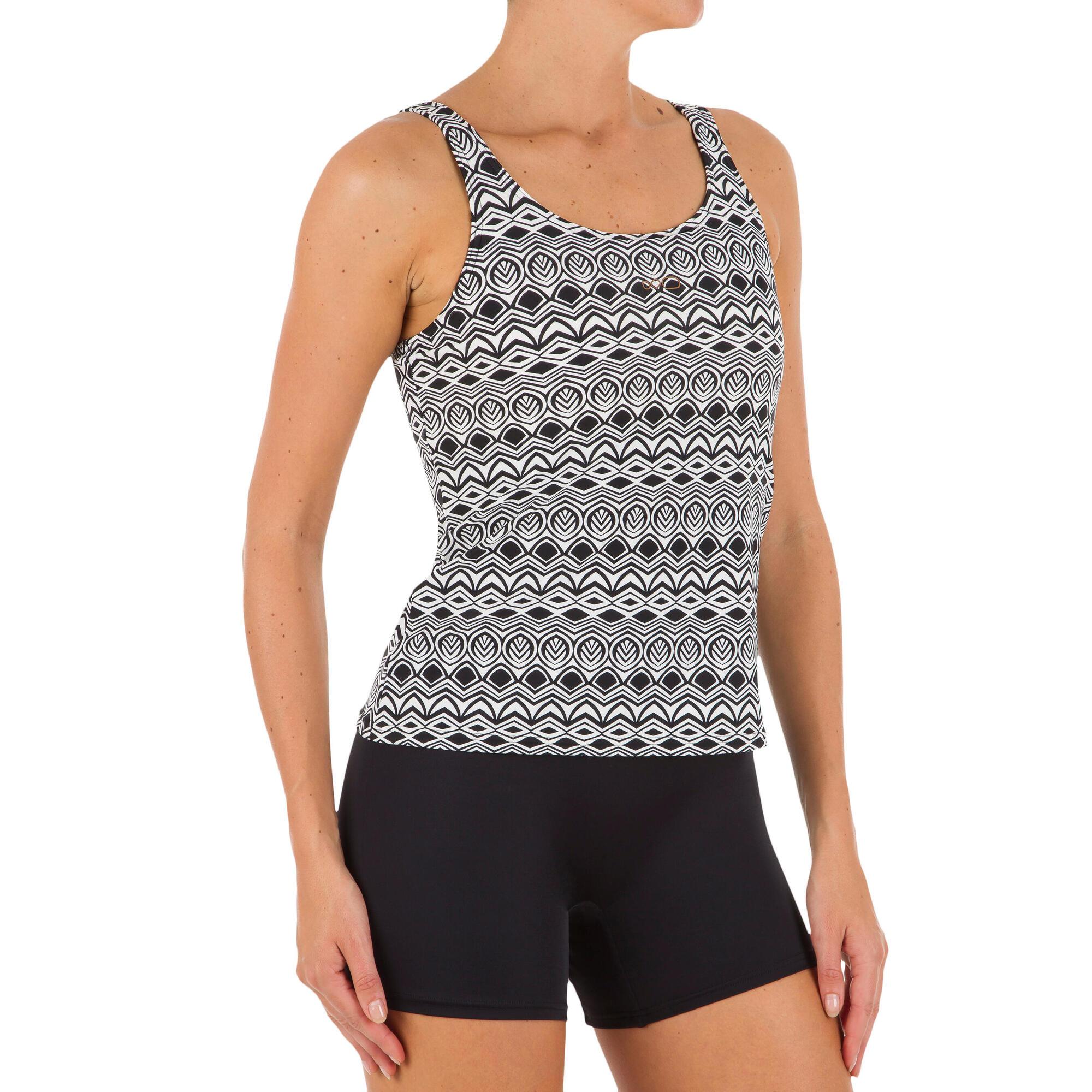 Loran Women S One Piece Tankini Swimsuit Orni Black