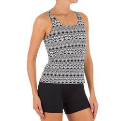 Women Swimming costume Tankini - White Black