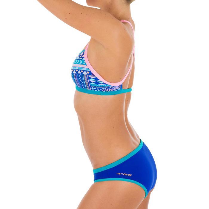 Sujetador-top de natación para mujer ultra resistente al cloro Jade ni azul