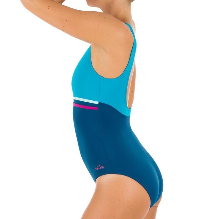 Maillot de bain de natation une pièce femme Loran corail - 1084631