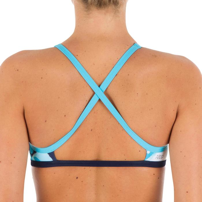 Sujetador-Top de natación ultra resistente al cloro Jade abs azul