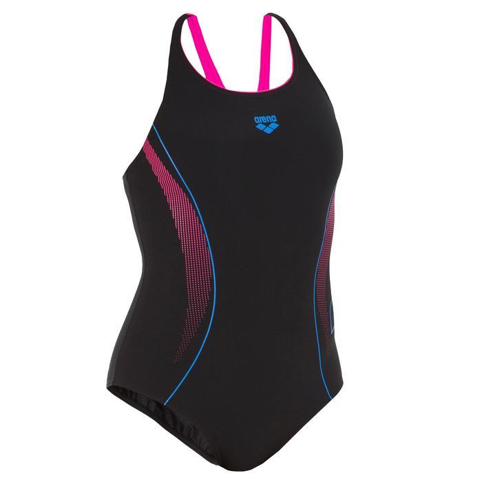 Badpak W Aster zwart/roze/blauw - 1084999