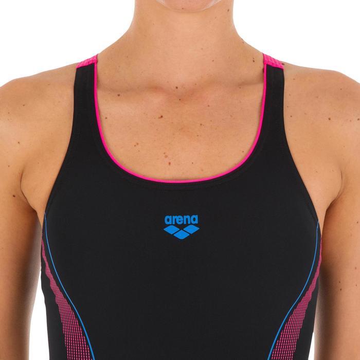 Badpak W Aster zwart/roze/blauw - 1085085