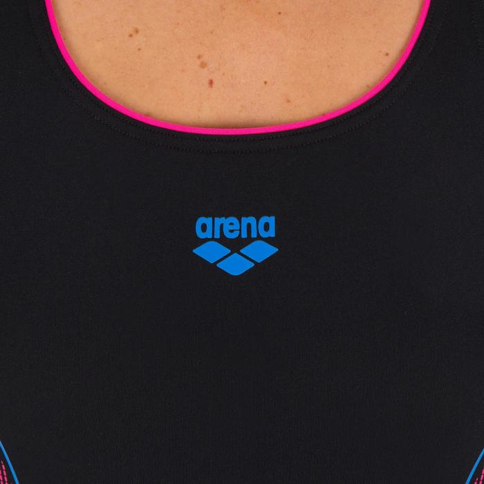 Badpak W Aster zwart/roze/blauw - 1085138
