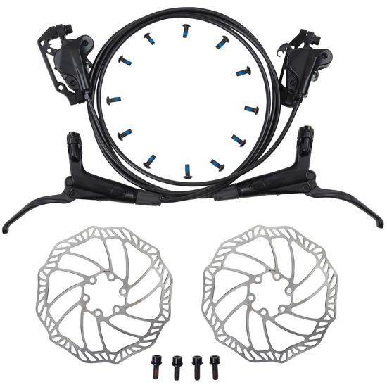 b 39 twin kit frein a disque hydraulique avant et arriere decathlon. Black Bedroom Furniture Sets. Home Design Ideas
