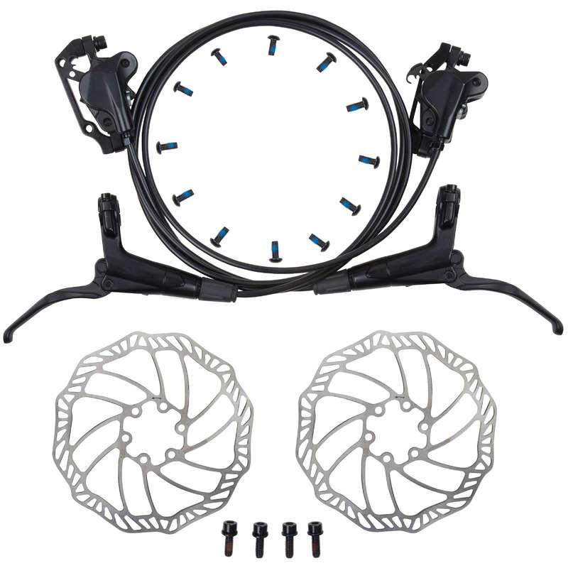 Велосипедные тормоза Велоспорт - НАБОР ДИСК. ГИДРАВ. ТОРМОЗОВ BTWIN - Запчасти и компоненты