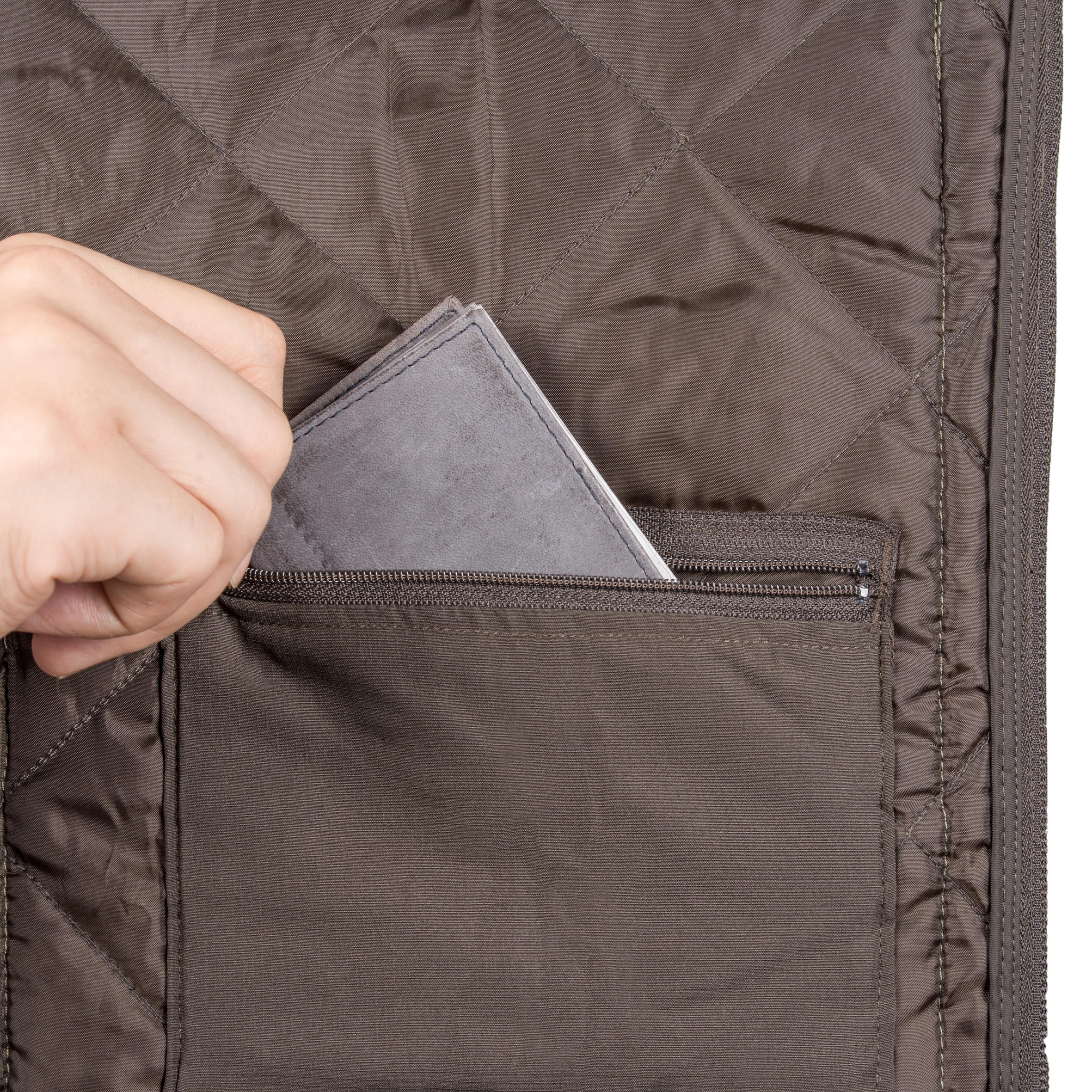 Men's Padded Jacket 100 Camo Halftone Green
