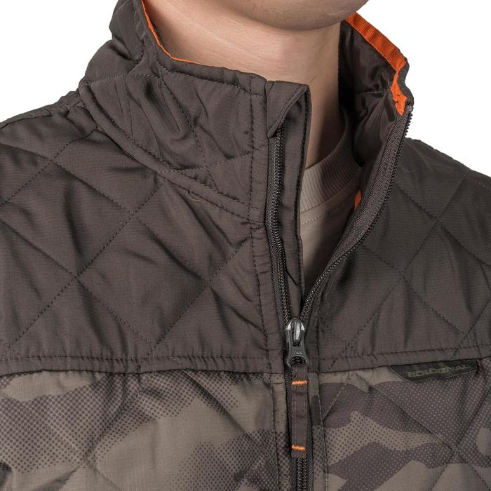Quilted hunting jacket 100 - camouflage green - 1085304