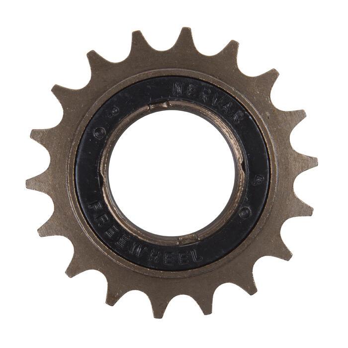 Opschroefbaar freewheel 1versnelling.
