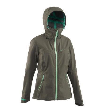 veste pluie imperm able randonn e forclaz 400 femme grise quechua. Black Bedroom Furniture Sets. Home Design Ideas