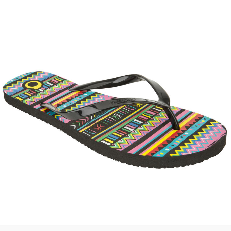 รองเท้าแตะสำหรับผู้หญิง TO100 PRINT (ลาย Jbay)
