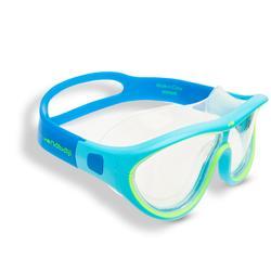 游泳面鏡100 SWIMDOW ASIA,S號 - 藍色綠色